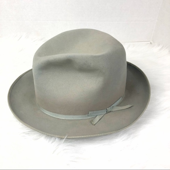 "b3510db3ca274 Royal Stetson VINTAGE 1951 ""open road"" fedora hat.  M 5b5f8eba2830959317b7c6ce"
